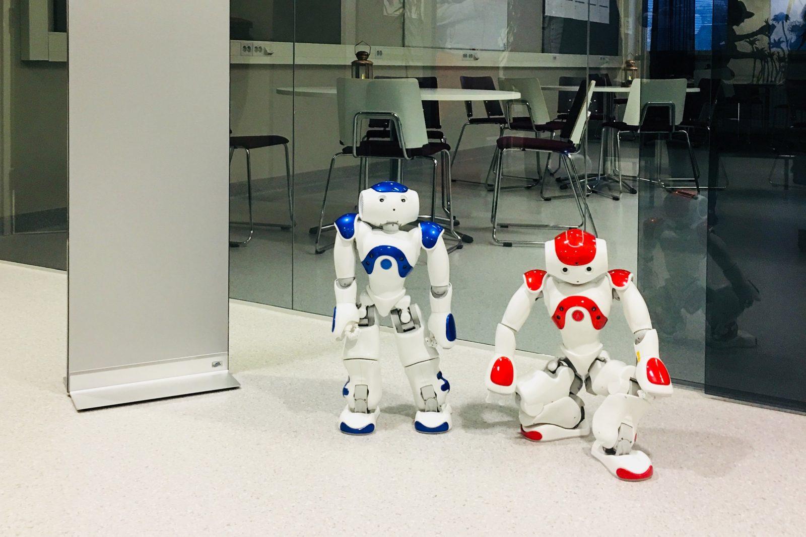 Kaksi robottia.
